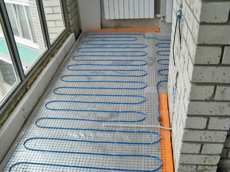 Теплый пол на лоджии и балконе